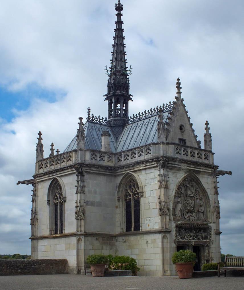 The Saint Hubert Chapel at the Chateau D'Amboise.