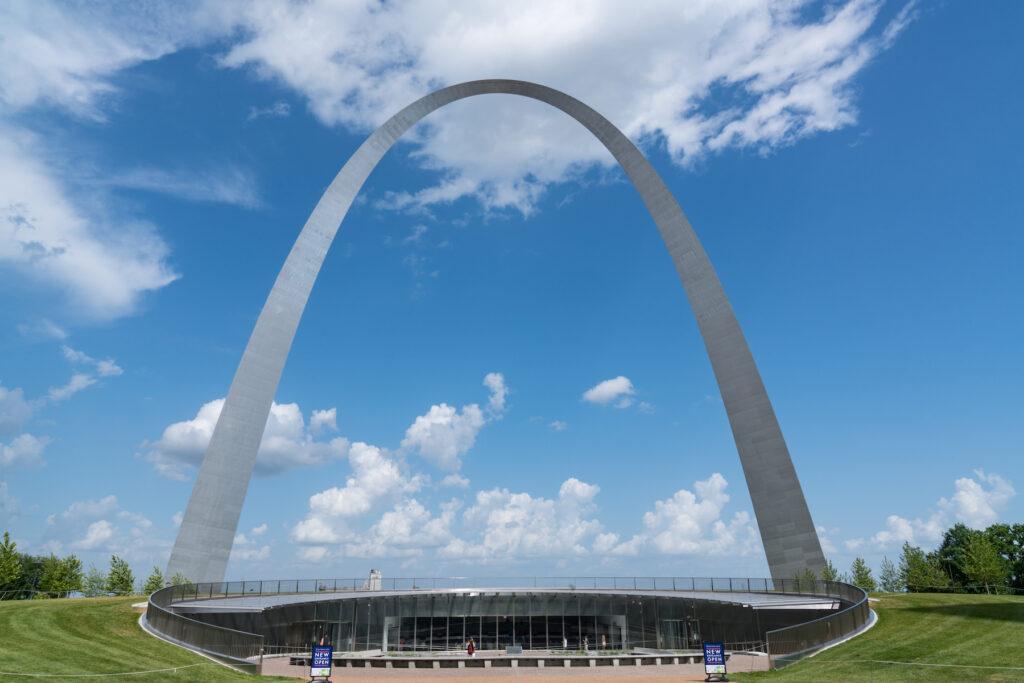 The Saint Louis Arch in Missouri.