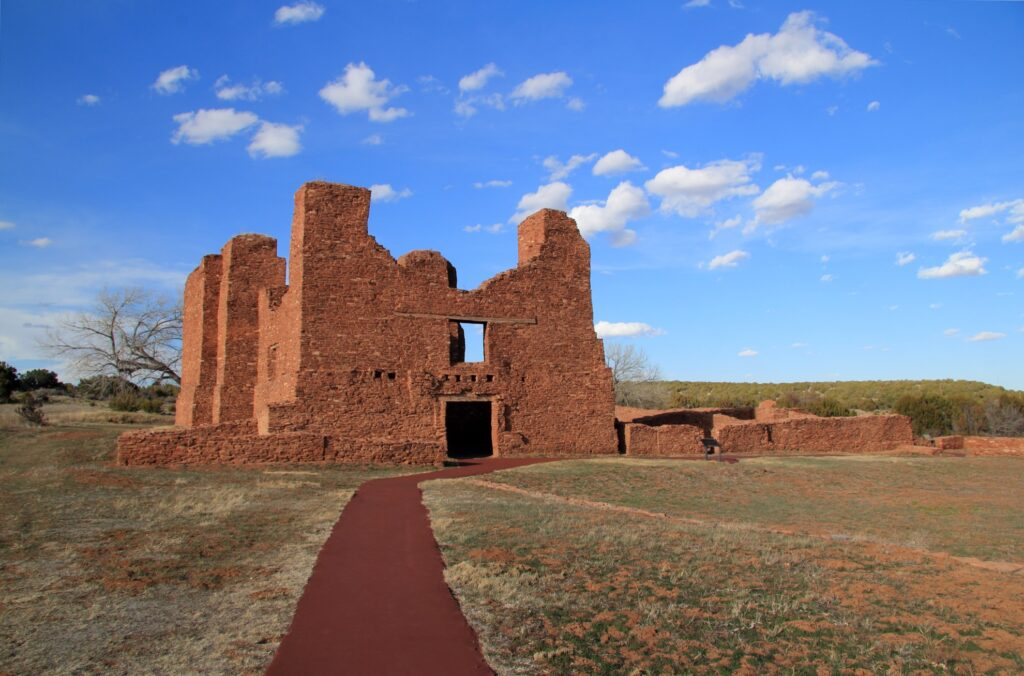 The Salinas Pueblo Missions National Monument.