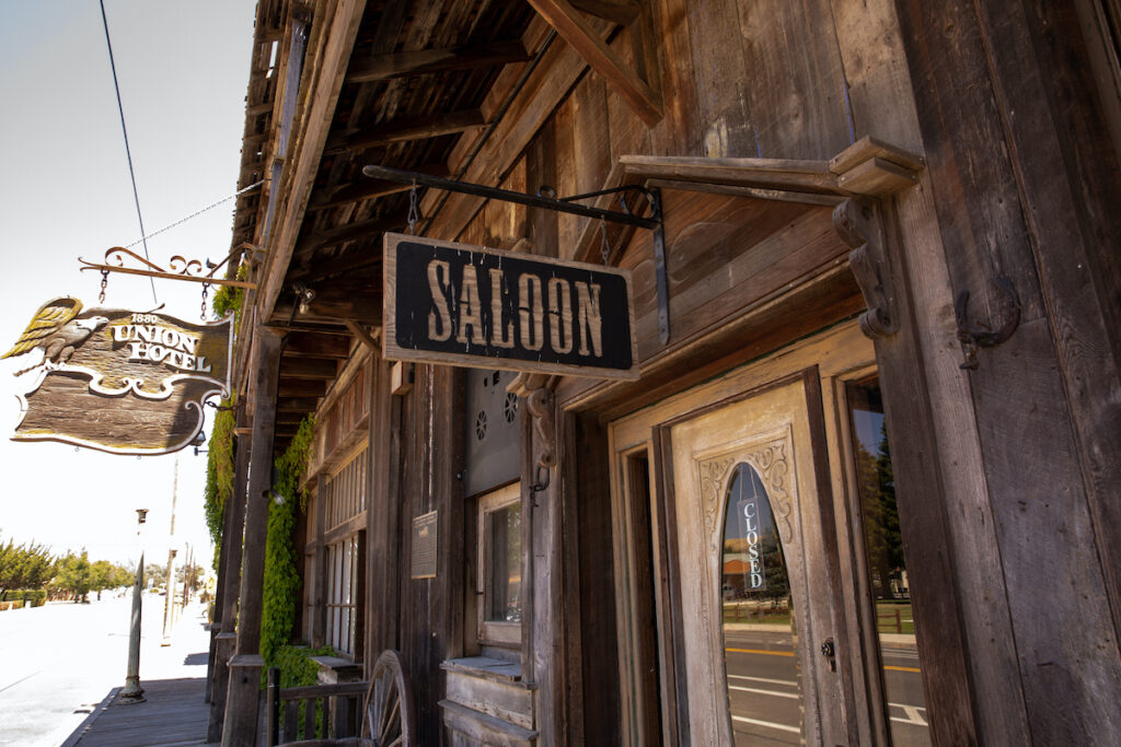 The saloon at the 1880 Union Hotel.