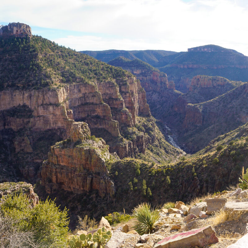 The Salt River Canyon in Arizona.