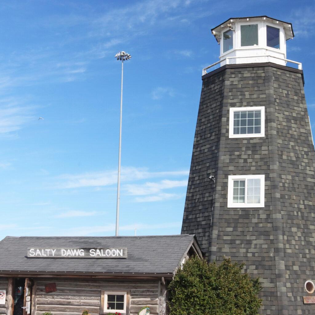The Salty Dawg Saloon in Homer, Alaska.