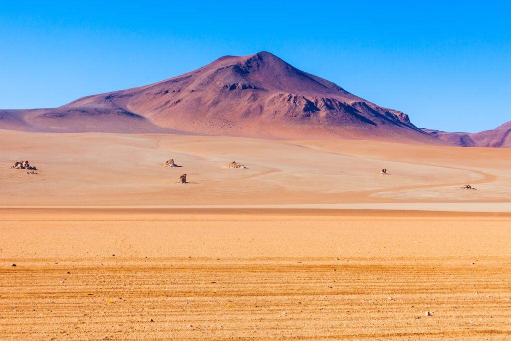 The Salvador Dali Desert in Bolivia.