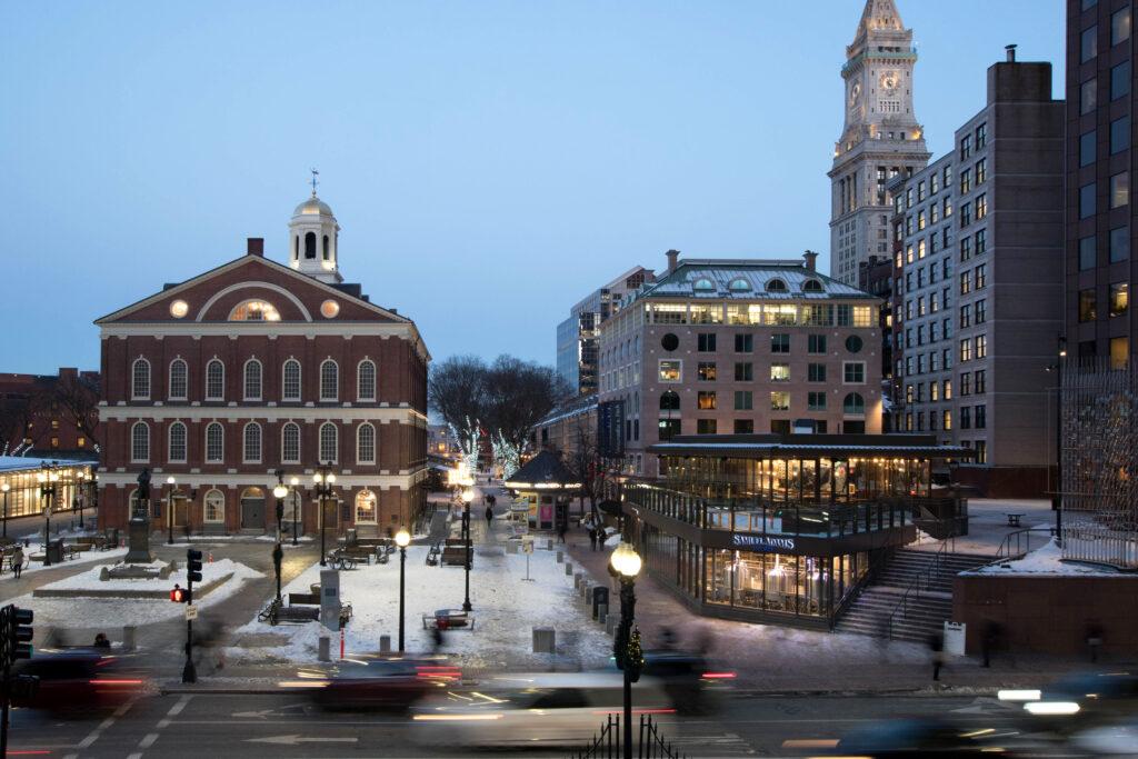 The Samuel Adams taproom in Boston.
