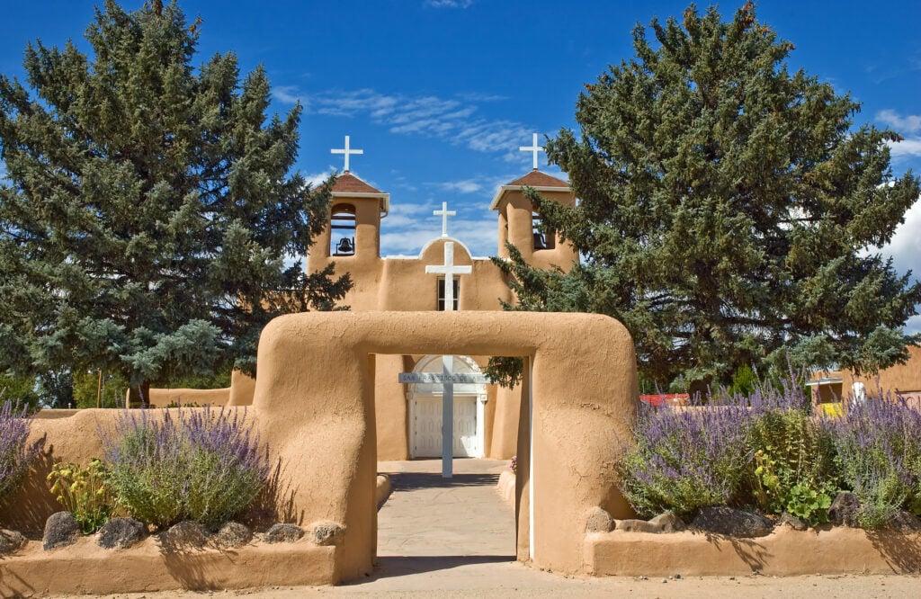 The San Francisco de Asis Church in Taos.