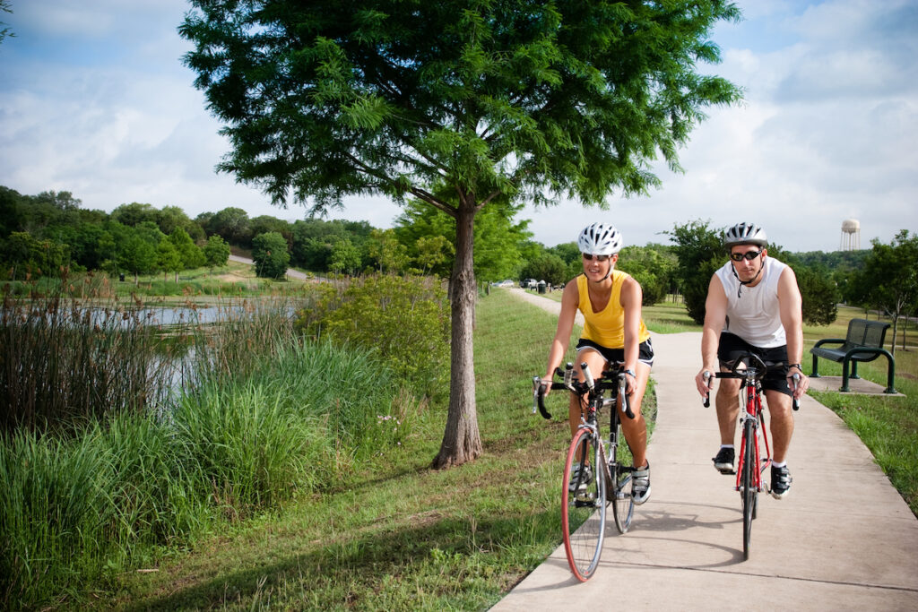 The San Gabriel Trail in Georgetown, Texas.