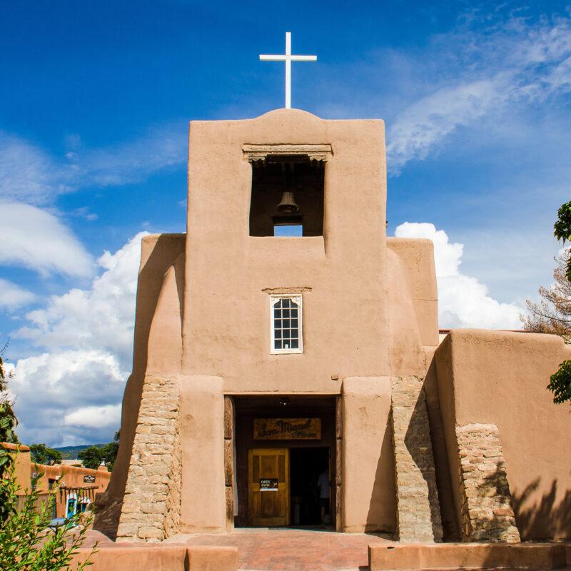 The San Miguel Chapel in Santa Fe.