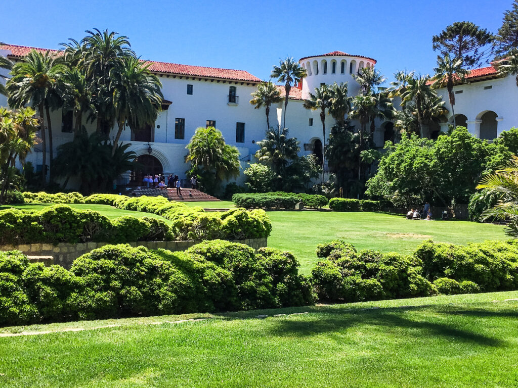 The Santa Barbara County Courthouse in California.