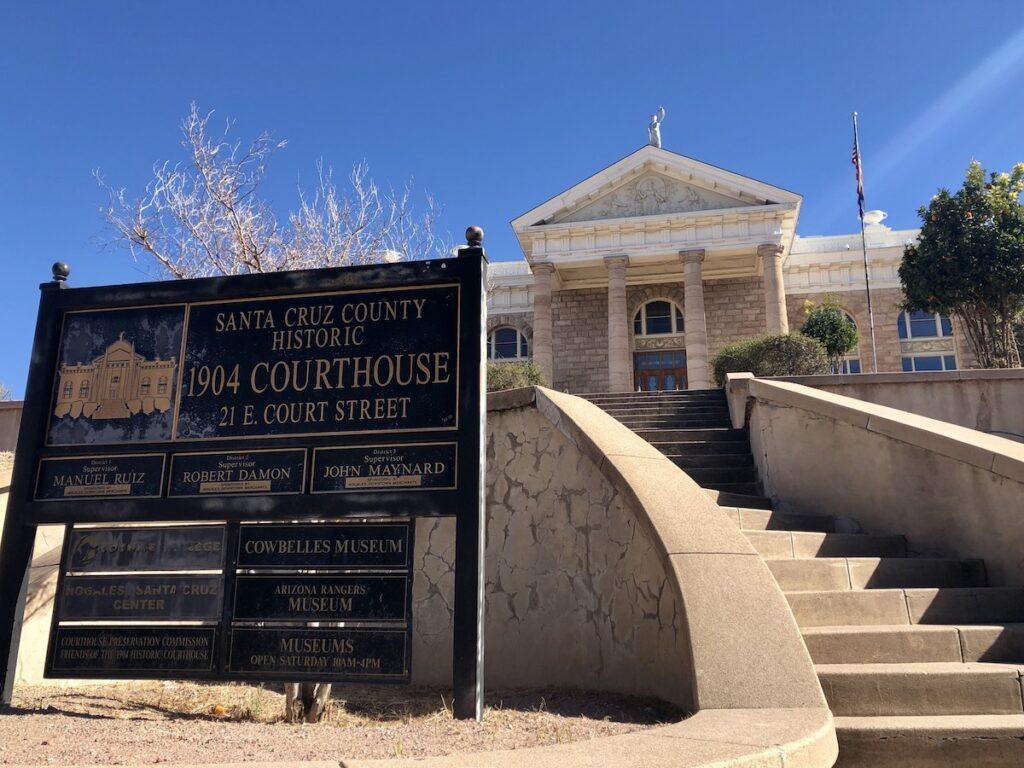 The Santa Cruz County Courthouse in Nogales, Arizona.