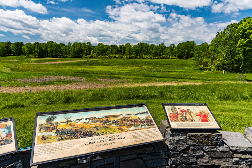 The Saratoga Battlefield in upstate New York.