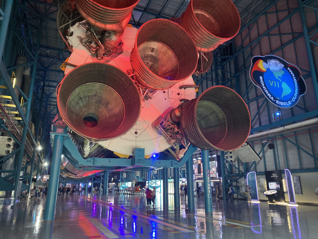 The Saturn V at Kennedy Space Center in Florida.