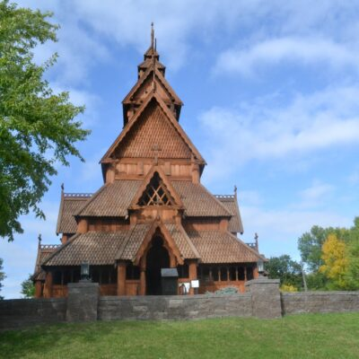 The Scandinavian Heritage Park in Minot, North Dakota.
