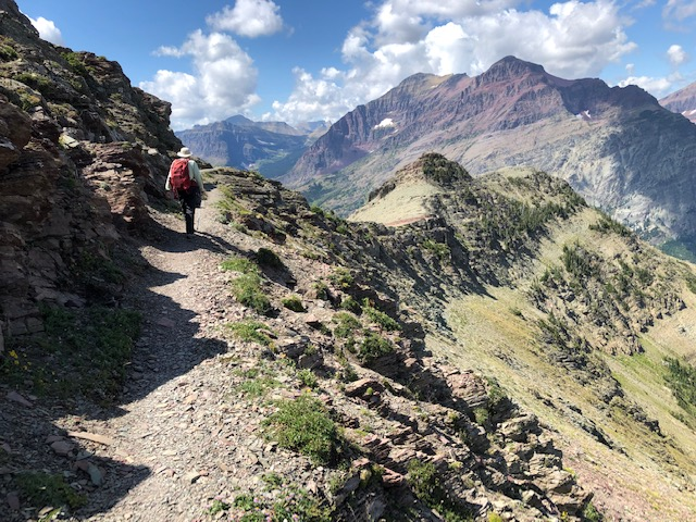 The Scenic Point trail in Glacier National Park.