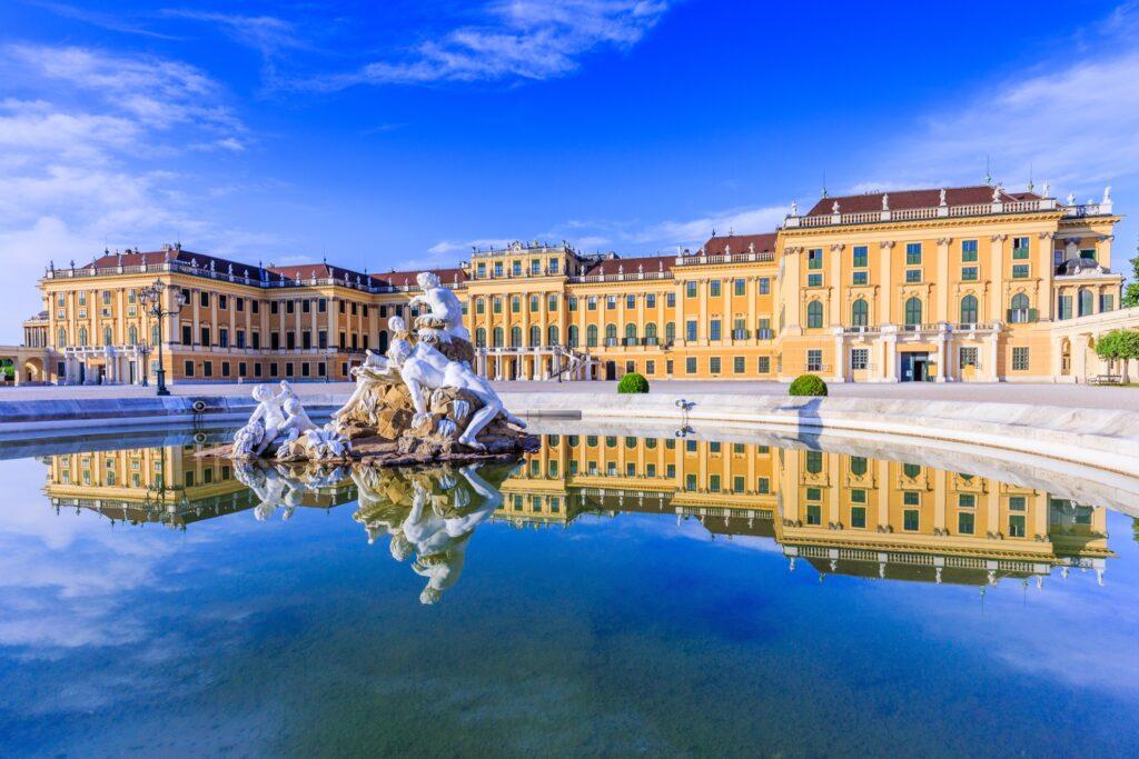 The Schönbrunn Palace in Vienna, Austria.