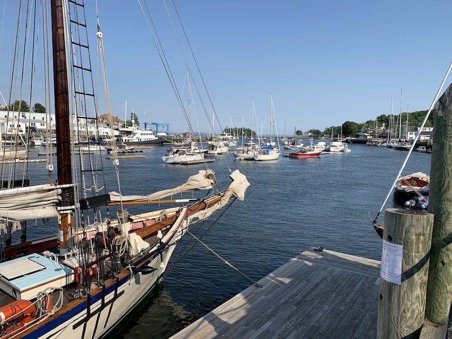 The Schooner Surprise preparing to sail Penobscot Bay.