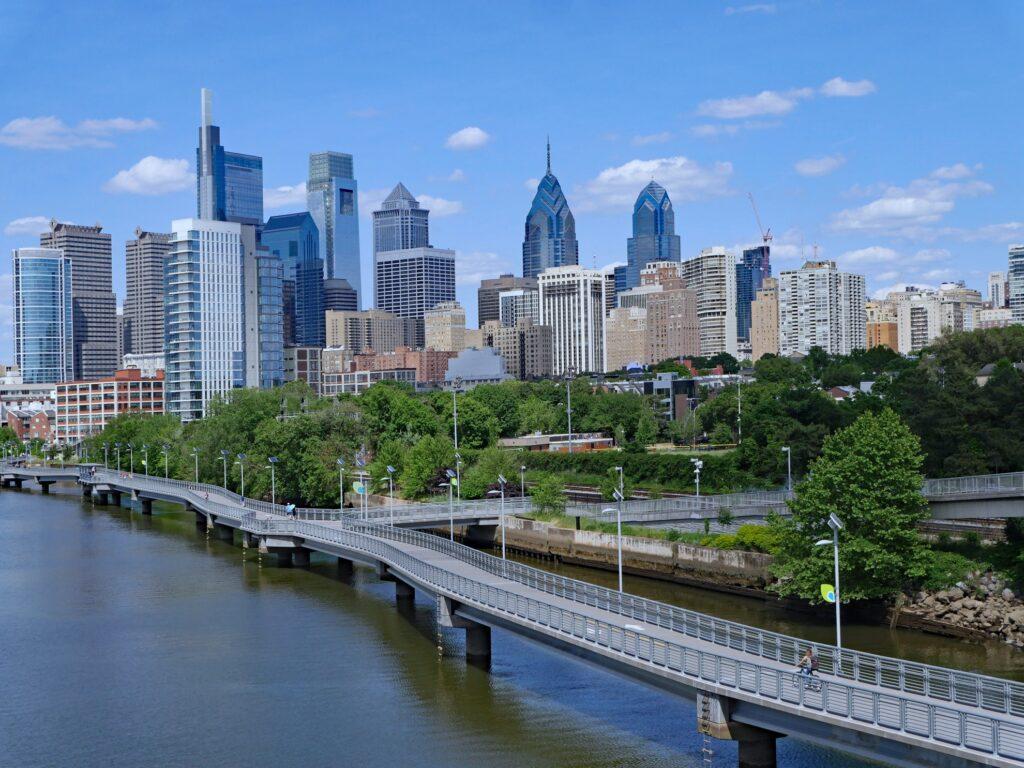 The Schuylkill River Trail in Philadelphia.