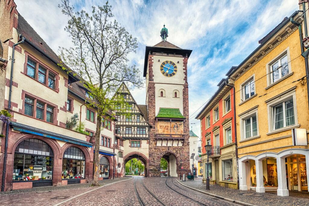 The Schwabentor gate in Freiburg.