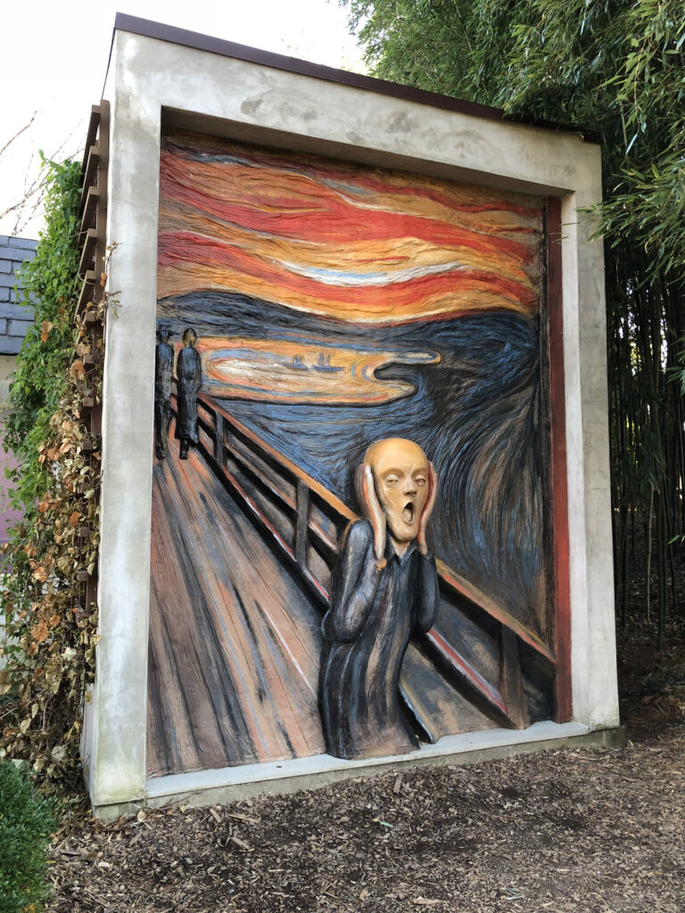 The Scream sculpture at Grounds For Sculpture.