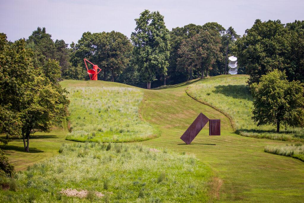The sculpture garden at Storm King Art Center.