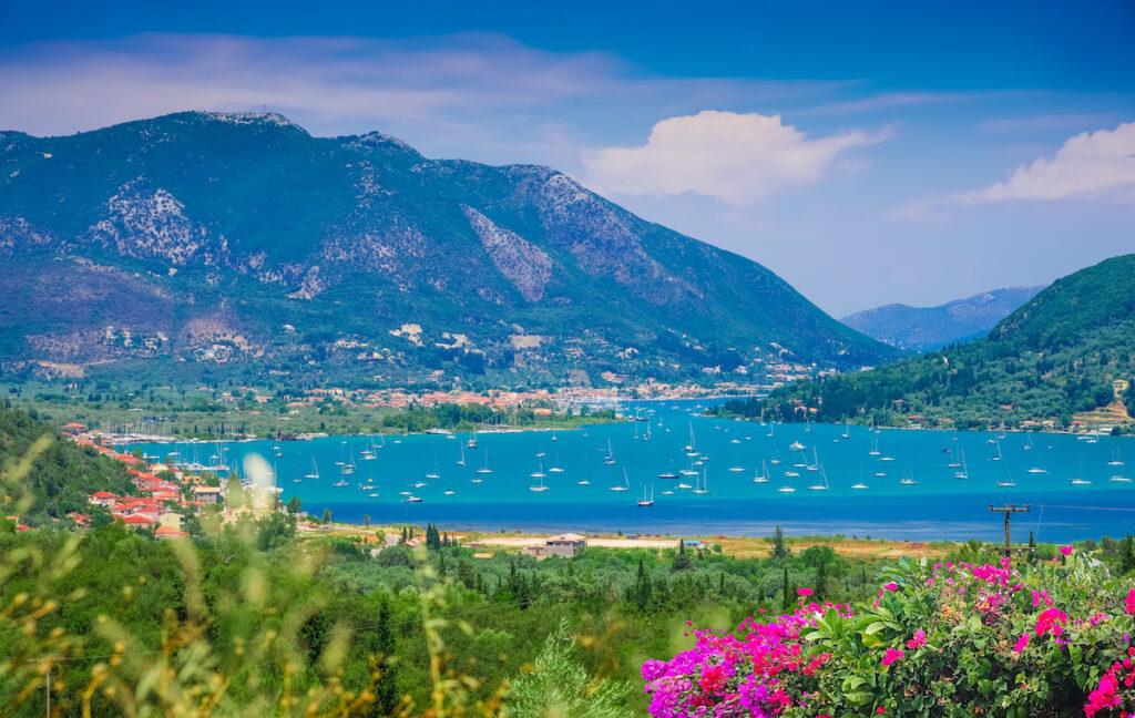 The Sea Lakes in Lefkada, Greece.