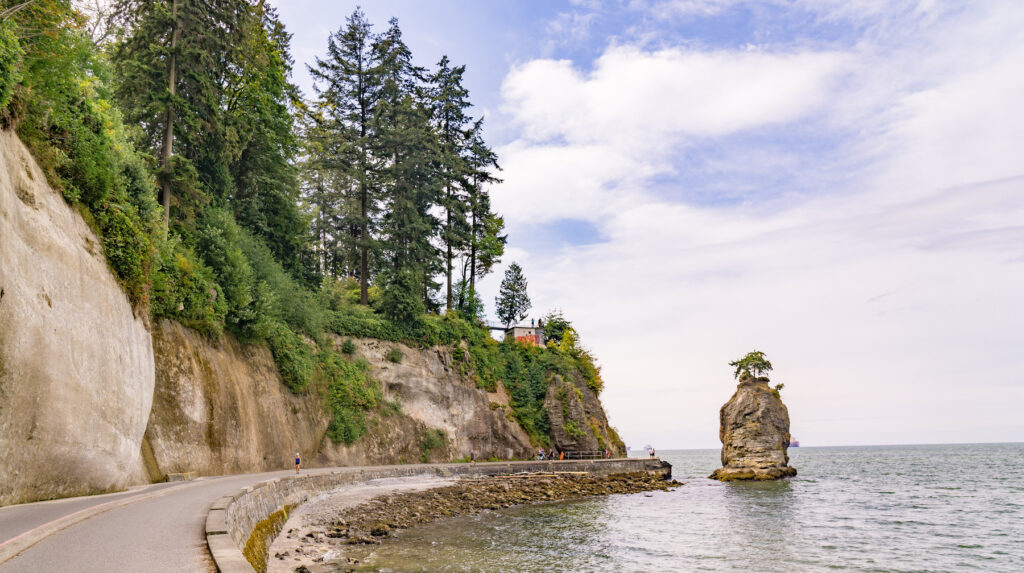 The Sea Wall in Stanley Park.