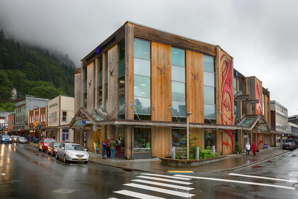 The Sealaska Heritage building in downtown Juneau, Alaska.