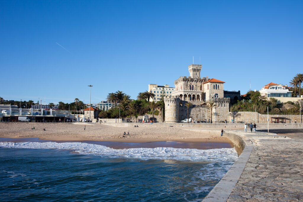 The seaside town of Estoril in Portugal.