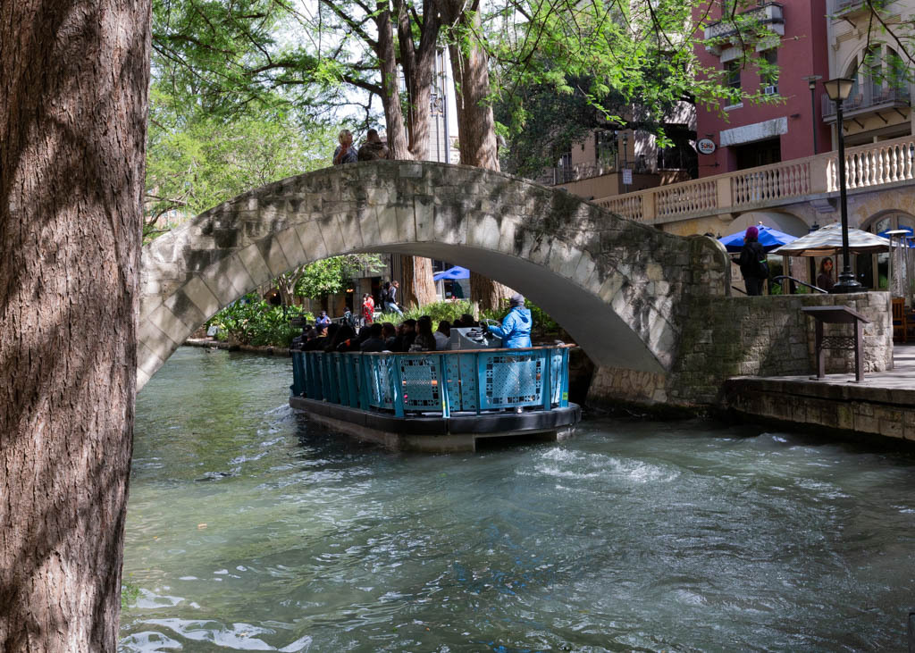 The Selena Bridge on the San Antonio River Walk.