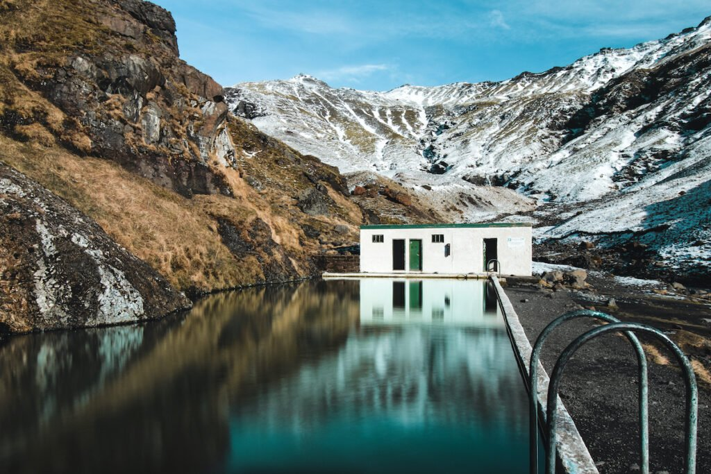 The Seljavallalaug Pool in Iceland.
