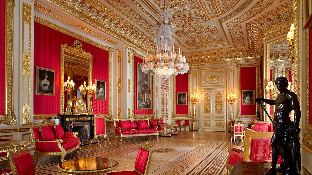 The Semi-State Rooms in Windsor Castle.