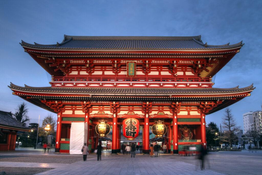 The Senso-ji Temple in Tokyo, Japan.
