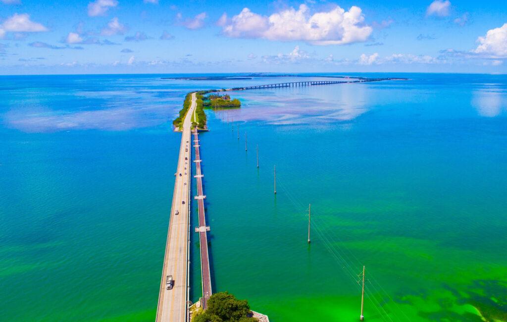 The Seven Mile Bridge to Key West.