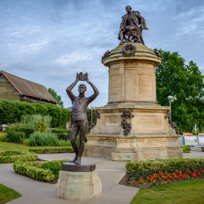 The Shakespeare statue in Stratford-Upon-Avon, England.