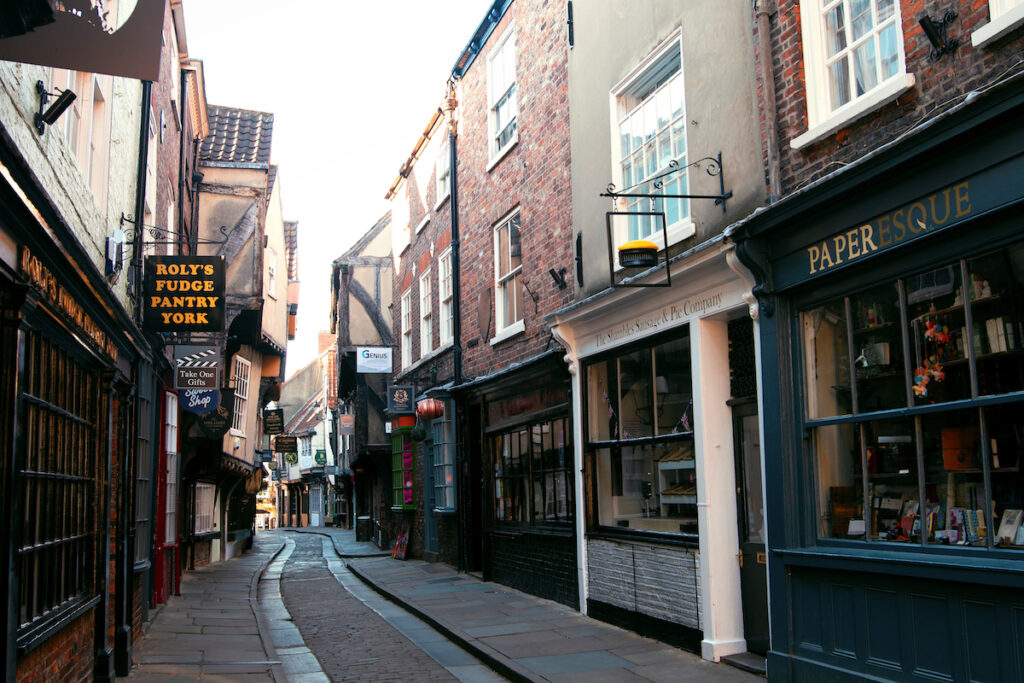The Shambles in York, England.