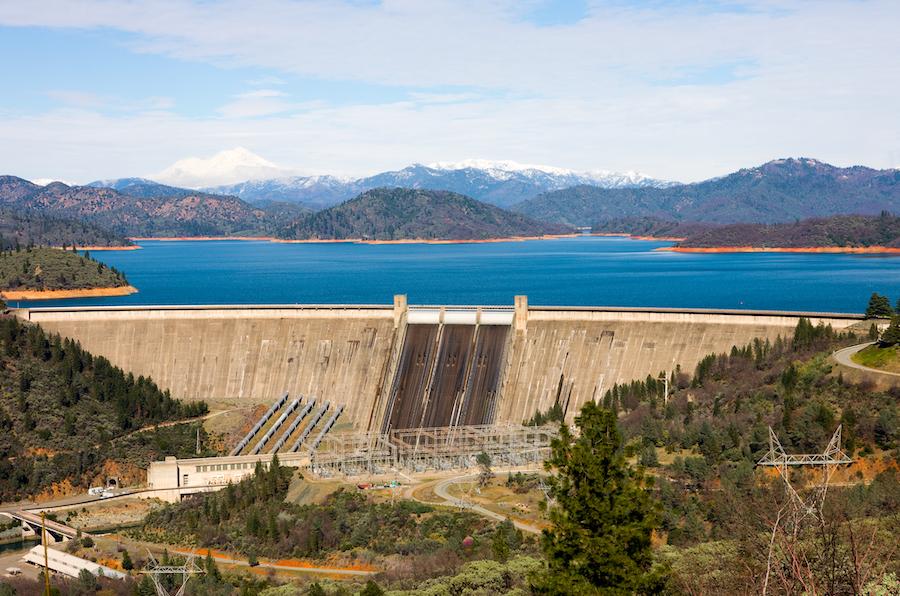 The Shasta Dam in California.