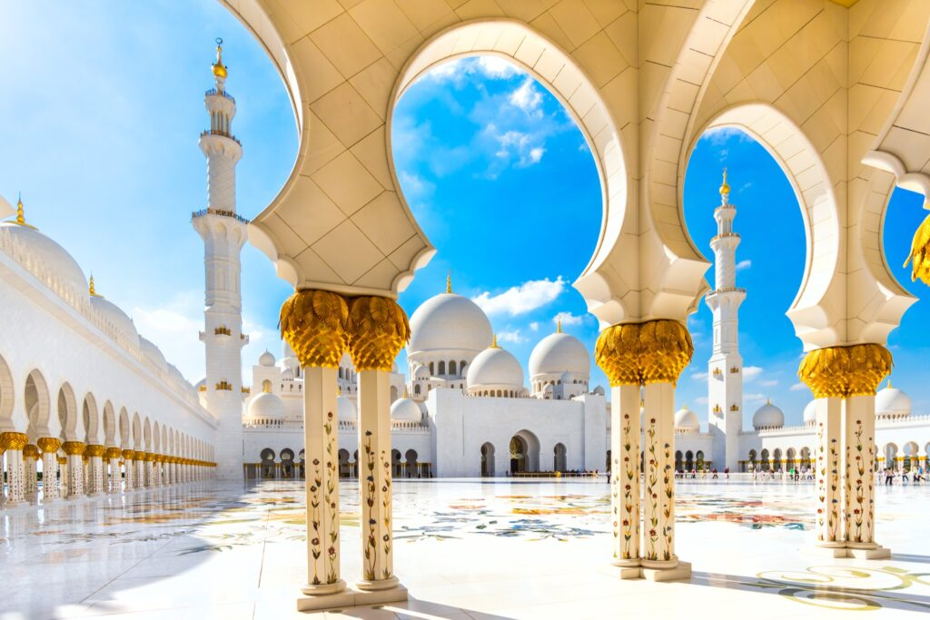 The Sheikh Zayed Grand Mosque.