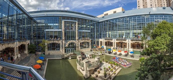 The Shops at Rivercenter in San Antonio, Texas.