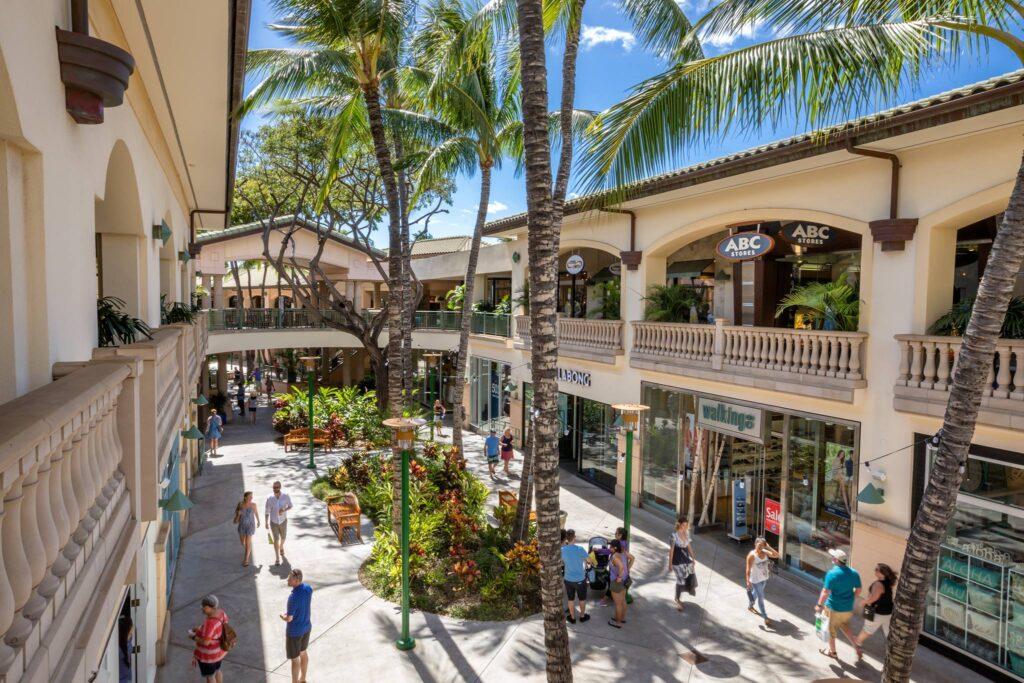 The Shops at Wailea in Hawaii.