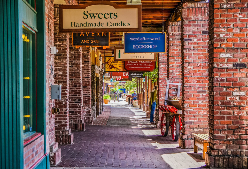 The shops in historic downtown Truckee.