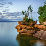 The shore of Madeline Island, Wisconsin.