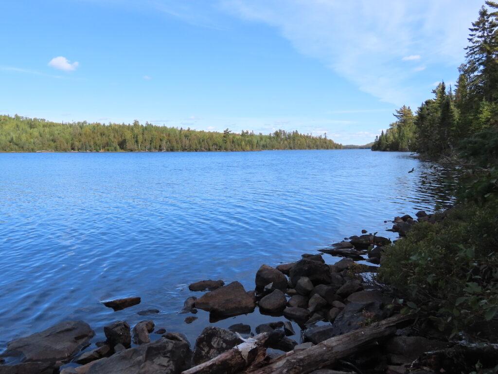 The shoreline of Loon Lake along the Gunflint Trail.