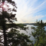 The shoreline of Loon Lake along the Gunflint Trail.