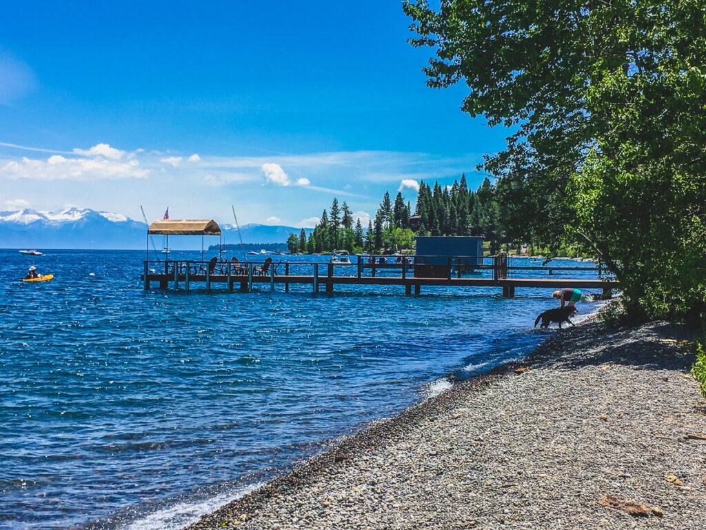 The shores of Lake Tahoe in California.