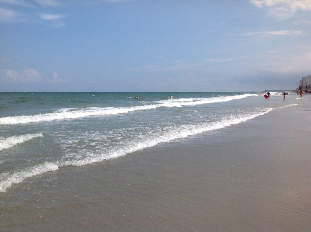 The shores of Myrtle Beach, South Carolina.