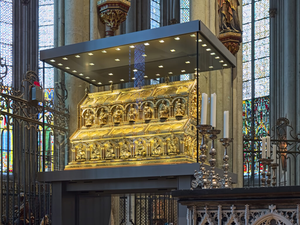 The Shrine of the Three Kings inside Cologne Cathedral.