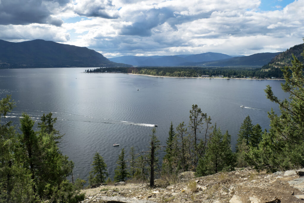 The Shuswap Lakes in Sicamous, Canada.