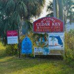 The sign for Cedar Key.