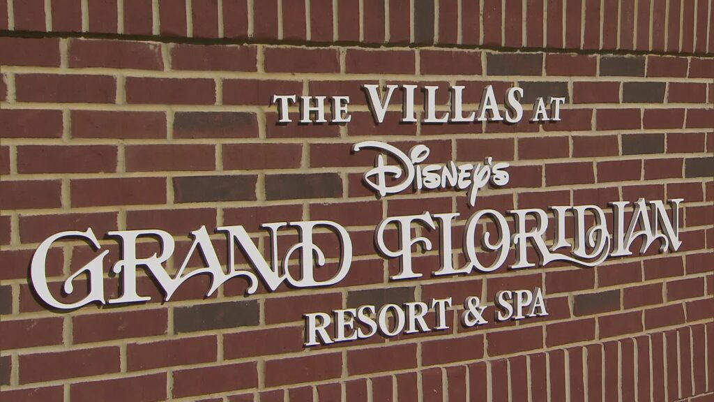 The sign for the Grand Floridian Resort.