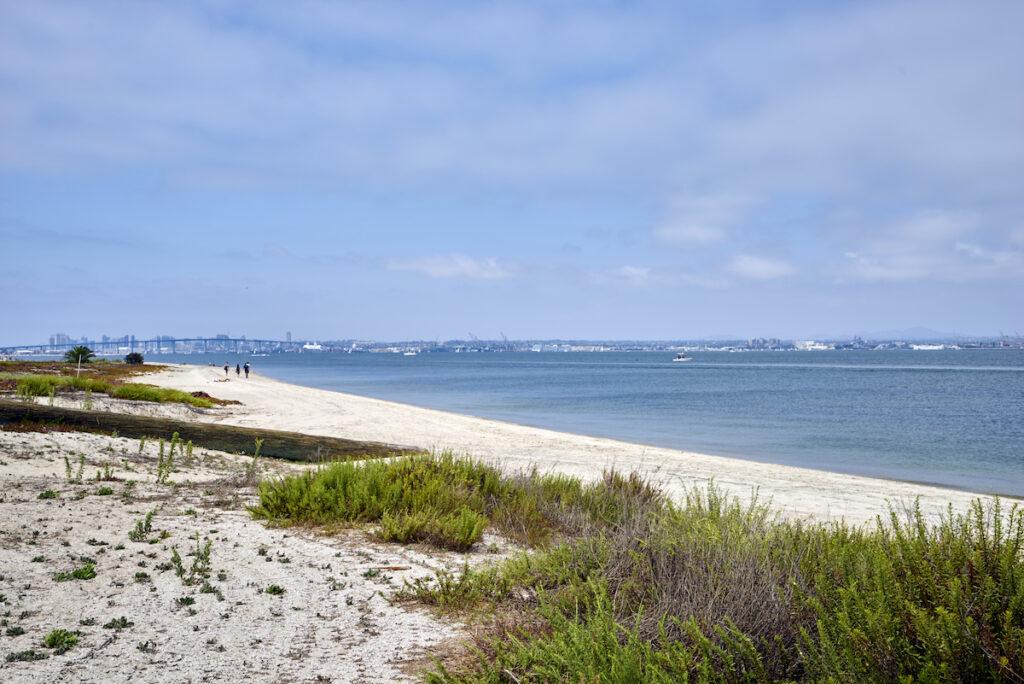 The Silver Strand on Coronado Island in California.