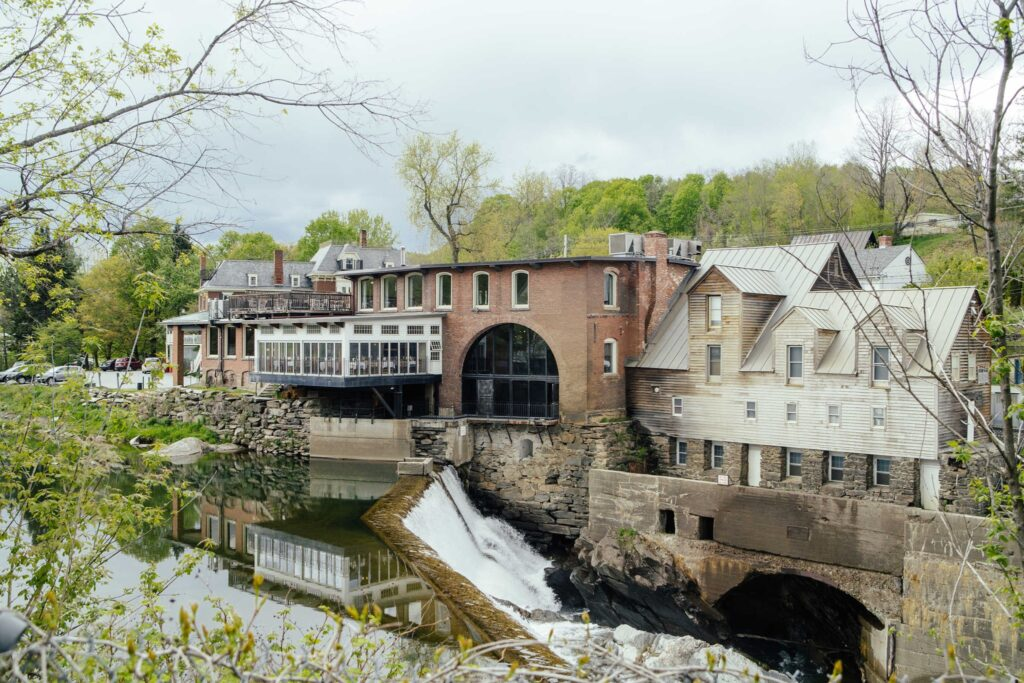 The Simon Pearce glass factory in the Ottauquechee River.